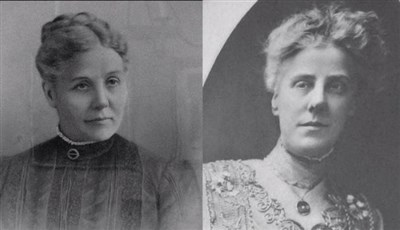Black and white portraits of Ann and Anna Jarvis