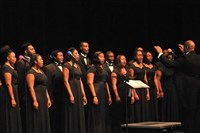 Concert chorale performing