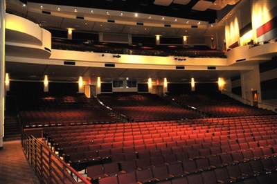 Performing arts center interior of Bethune-Cookman University