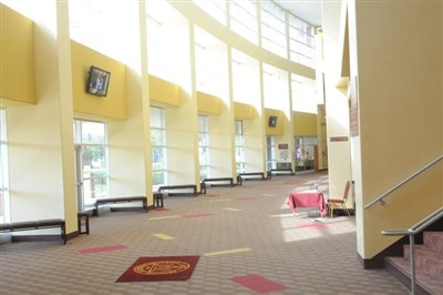 Open lobby area of Bethune-Cookman University Performing Arts Center