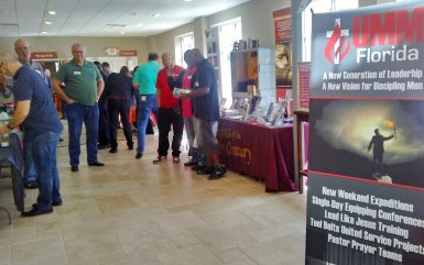 Attendees mingle at Igniting Men conference