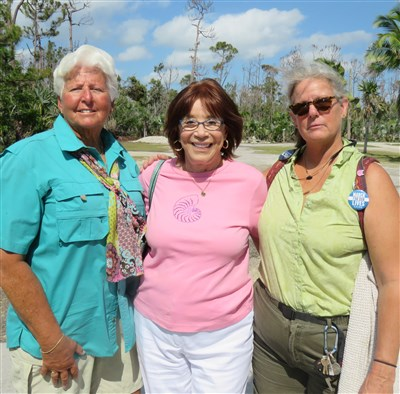 Fran Pederson, Terri Dallao, Kathy Brown in Key West Florida actively in disaster recovery efforts