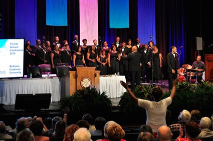 Audience reacting to Bethune-Cookman Concert Chorale