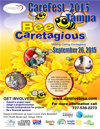 "Carefest 2015 ""Bee Caretagious"" flyer"