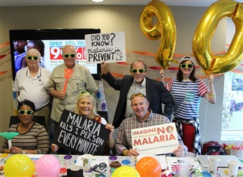 Imagine No Malaria Florida committee celebrates campaign with party and posters