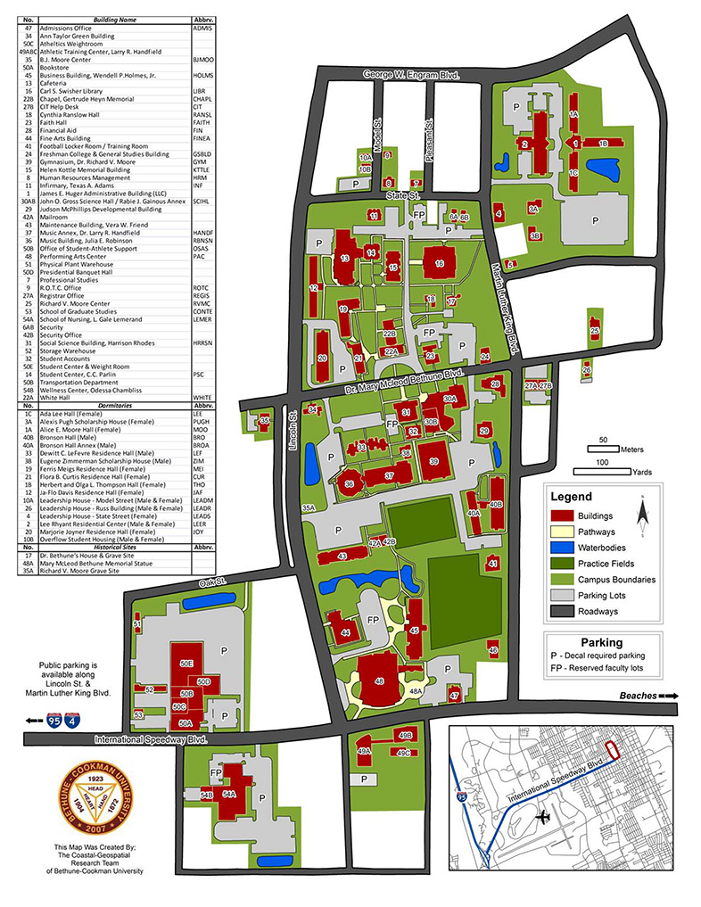 Lakeland Campus Map.Bcu Campus Map Parking The Florida Conference Of The United